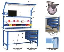 5,000 LB. CAPACITY KENNEDY SERIES WORKBENCHES - WITH HEAVY FORMICA™ LAMINATE TOP