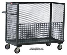 MESH 3 SIDED CART WITH REMOVABLE DROP GATE
